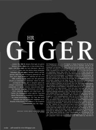 pdf created by www.littlegiger.com - the little HR Giger Page
