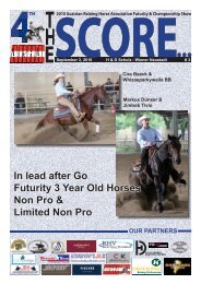 In lead after Go Futurity 3 Year Old Horses Non Pro ... - Western Star