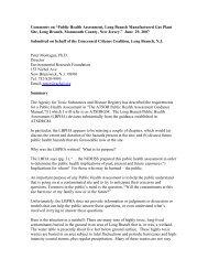 Peter Montague's DRAFT Comments on Public Health ... - Precaution