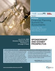 Financial Planning Summit for Accountants: - Professional Events