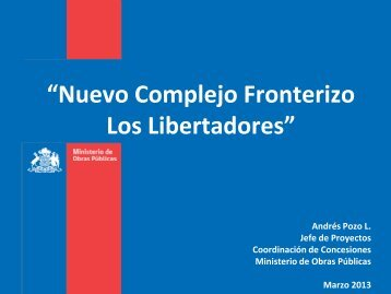 Presentación del Proyecto - Coordinación de Concesiones de ...