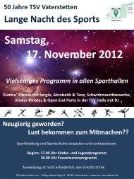 Samstag, 17. November 2012 - TSV Vaterstetten e.V.