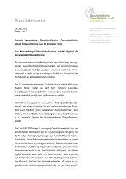 Presseinfo_50. Mitglied Gesundheitswirtschaft Südwestfalen