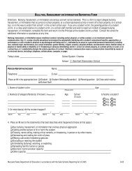 Electronic Bullying, Harassment, or Intimidation Reporting Form