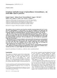 Genotype and phenotype of glutathione S-transferase J-L in ... - CPNC