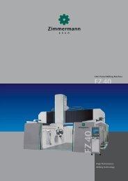 CNC Portal Milling Machine - F. Zimmermann GmbH