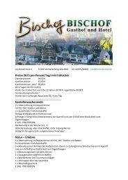 Preise 2013 pro Person/Tag - gasthof und hotel bischof ...