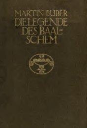 Die Legende des Baalschem - University of Toronto Libraries