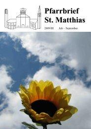 Pfarrbrief 2009_3_komp.pdf - St. Matthias