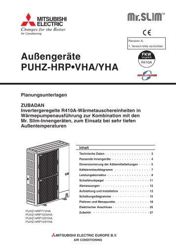 Außengeräte PUHZ-HRP•VHA/YHA ... - ATC Trend