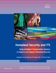 Homeland Security and ITS - ITS Midwest