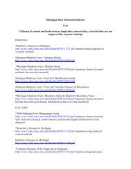 Michigan State Extension Bulletins Fruit *(Chemical control methods ...