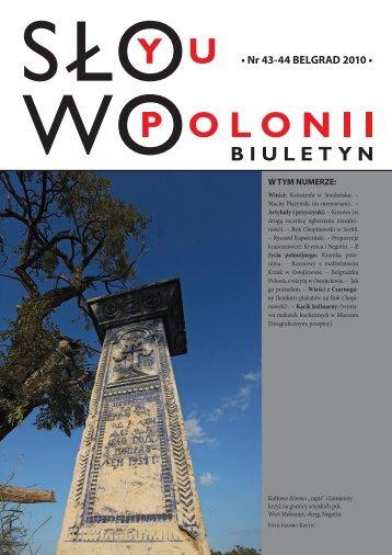 • Nr 43-44 BELGRAD 2010 • - Polonia-serbia.org