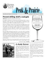 April/May/June 2007 (pdf) - Sierra Club Rocky Mountain Chapter