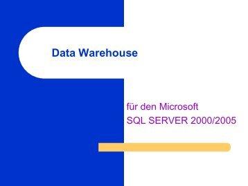 Modellierung Data Warehouse