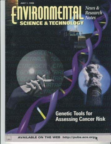 Environmental genetic risk assessment - Patlak, Margie
