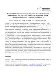 La scala LP-13 per la valutazione psicodiagnostica ... - Doppio Sogno