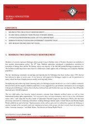 Burma Newsletter_May 2013
