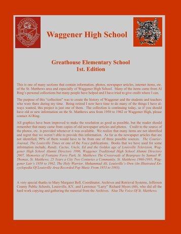 Greathouse Elementary School, 1st. Edition - RingBrothersHistory.com