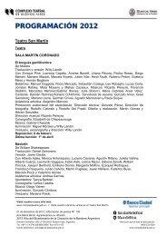 Resumen de la temporada 2012 del CTBA - Centro Cultural San ...