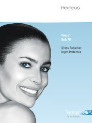 Venus Bulk Fill Product Information (PDF) - Heraeus