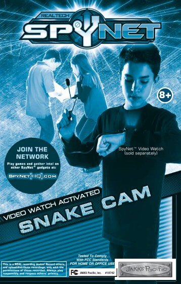 "spynetâ""¢ video watch activated snake cam"