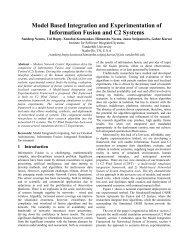 Model Based Integration and Experimentation of ... - CiteSeerX