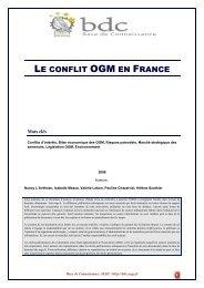 Le conflit OGM en France - Base de connaissance AEGE