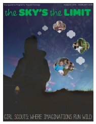Program Events in The Sky's the Limit - Girl Scouts of Virginia ...