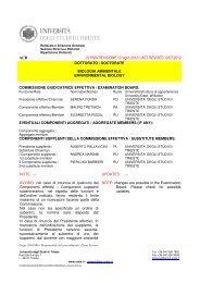 Commissione ACB - Università degli Studi di Trieste