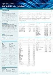 SSgA World SRI Index Equity Fund - The Index People BV