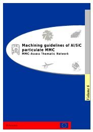 Machining guidelines of Al/SiC particulate MMC Volume 6