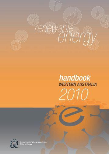 Renewable Energy Handbook 2010 - Department of Finance - The ...