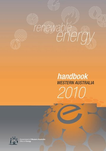 Renewable Energy Handbook 2010 - Department of Finance - The ...
