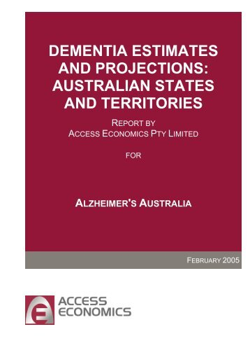 dementia estimates and projections: australian states and territories