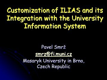 Validation Tasks Performed by the Czech Team - Ilias