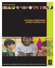 CULTURALLY RESPONSIVE LITERACY INSTRUCTION - NCCRESt