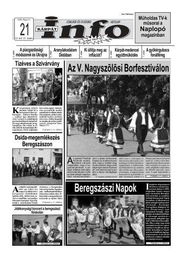 Beregszászi Napok - Kárpátinfo.net