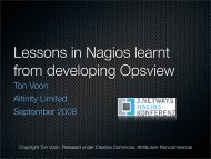 Lessons in Nagios learnt from developing Opsview ... - netways