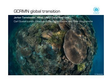 GCRMN transition .pptx - East Asia Regional Activities