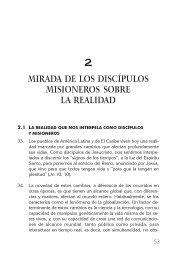 MIRADA DE LOS DISCÍPULOS MISIONEROS SOBRE LA REALIDAD