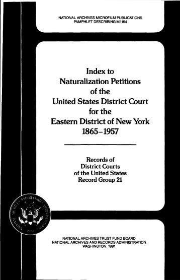 Index to Naturalization Petitions of the United States District ... - Fold3