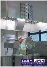Hoods for professional kitchens - Klimatechnik