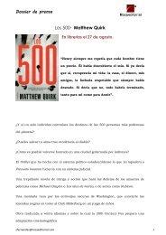 Dossier de prensa Los 500. Matthew Quirk - Roca Editorial