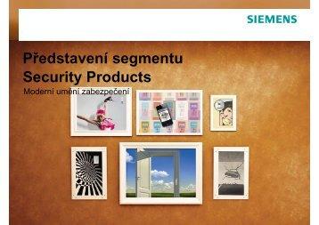 Představení segmentu Security Products