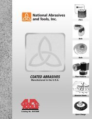 coated abrasives - Electronic Fasteners Inc