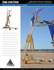 Free-Standing Mobile Access Platform - Flexible Lifeline Systems