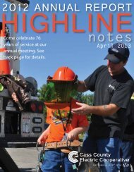 2012 AnnuAl RepoRt - Cass County Electric Cooperative