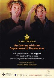 An Evening with the Department of Theatre Arts with Special Guest ...
