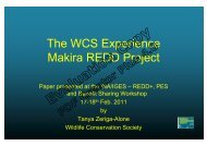 The WCS Experience Makira REDD Project